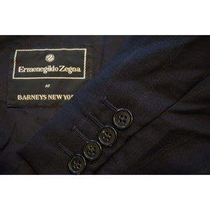 Ermenegildo Zegna Navy Blue Striped Wool 2pc suit